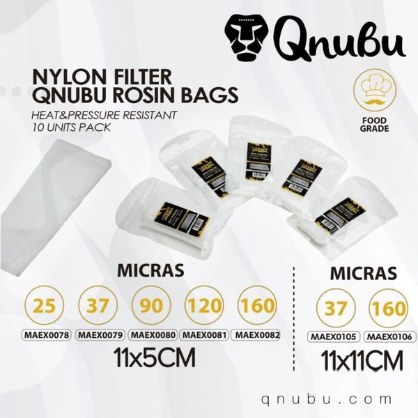 Rosin Press Bag 11x11cm Pack 10 Units by Qnubu